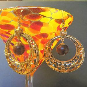 80's vintage hoops boho gypsy glam pierced gold